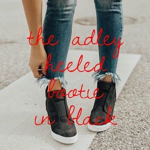 'The Adley' Heeled Bootie In Black
